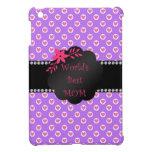 Los mejores lunares del corazón púrpura de la mamá iPad mini cárcasa