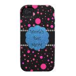 Los mejores lunares del rosa de la mamá del mundo vibe iPhone 4 fundas