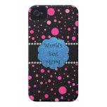 Los mejores lunares del rosa de la mamá del mundo iPhone 4 Case-Mate cobertura