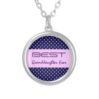 Los mejores lunares púrpuras V30 de GranddaughterE Pendiente Personalizado