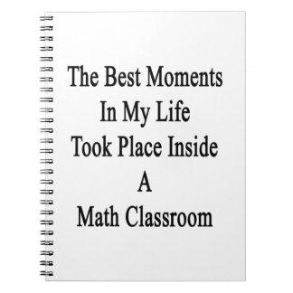 Los mejores momentos de mi vida ocurrieron dentro libro de apuntes