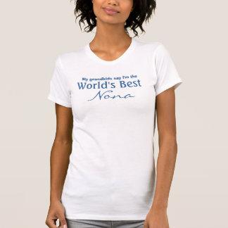 Los mejores Nona del mundo azules y blancos Camiseta
