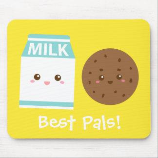 Los mejores Pals, leche linda y galletas Alfombrilla De Ratón