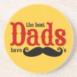 Los mejores papás tienen práctico de costa de los  posavasos personalizados