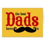 Los mejores papás tienen tarjeta de los bigotes