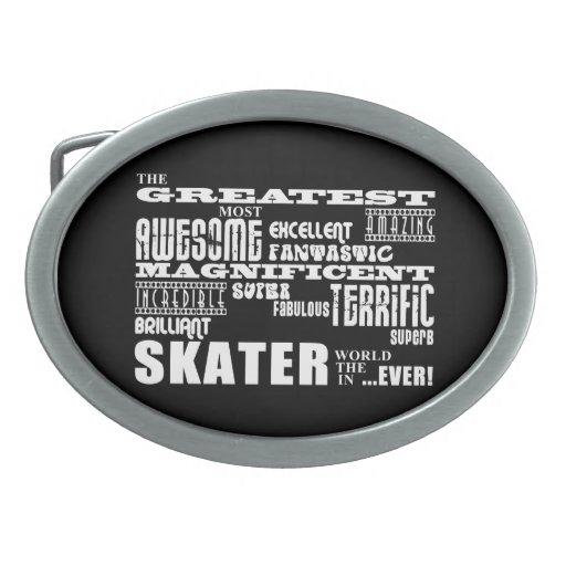 Los mejores patinadores: El patinador más grande Hebilla Cinturón Oval