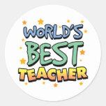 Los mejores pegatinas del profesor del mundo