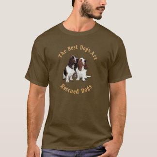Los mejores perros son Basset Hound rescatado) Playera