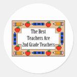 Los mejores profesores son 2dos profesores del etiquetas redondas
