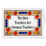 Los mejores profesores son profesores alemanes tarjetón
