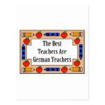 Los mejores profesores son profesores alemanes tarjeta postal