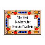 Los mejores profesores son profesores alemanes postales