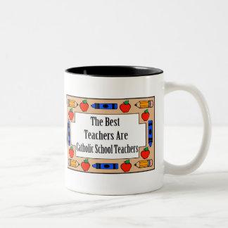 Los mejores profesores son profesores de escuela taza de dos tonos
