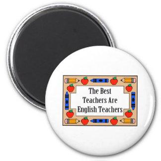Los mejores profesores son profesores de inglés imán redondo 5 cm