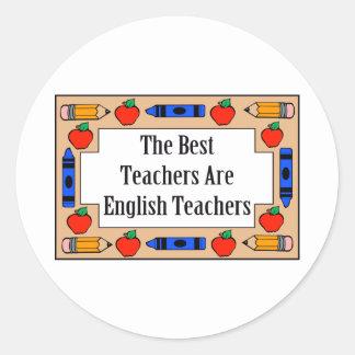 Los mejores profesores son profesores de inglés pegatina redonda