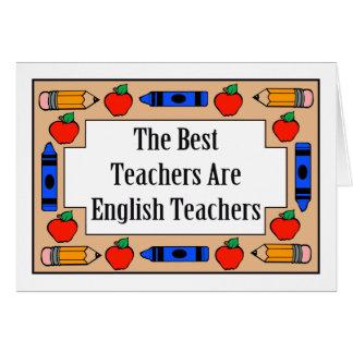Los mejores profesores son profesores de inglés tarjeta de felicitación