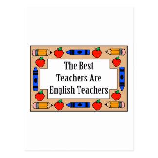 Los mejores profesores son profesores de inglés tarjetas postales