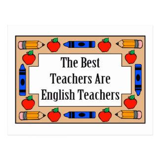 Los mejores profesores son profesores de inglés tarjeta postal