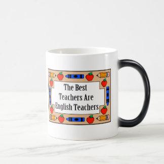 Los mejores profesores son profesores de inglés taza mágica