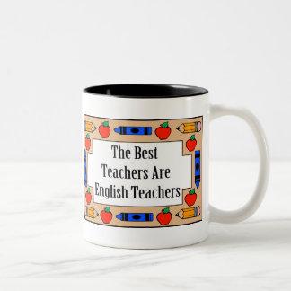 Los mejores profesores son profesores de inglés taza dos tonos