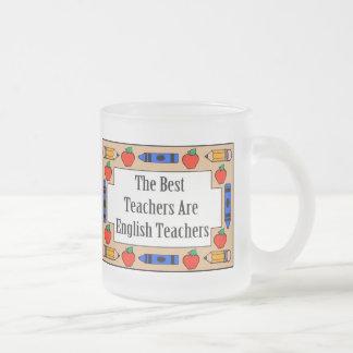 Los mejores profesores son profesores de inglés taza cristal mate