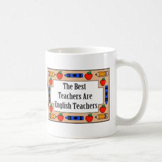Los mejores profesores son profesores de inglés taza básica blanca