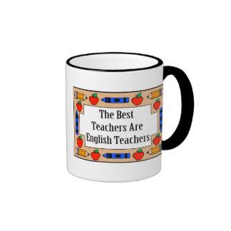 Los mejores profesores son profesores de inglés taza a dos colores