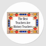 Los mejores profesores son profesores de la histor etiqueta redonda