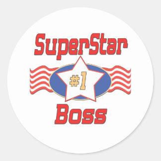 Los mejores regalos de Boss del mundo Pegatinas Redondas