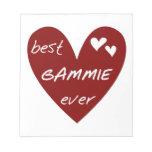 Los mejores regalos de Gammie del corazón rojo Bloc De Notas