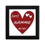 Los mejores regalos de Gammie del corazón rojo Caja De Recuerdo