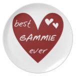 Los mejores regalos de Gammie del corazón rojo Plato Para Fiesta