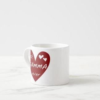Los mejores regalos de la gamma del corazón rojo n tazita espresso