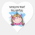 Los mejores regalos de la hermana grande del mundo pegatina corazón personalizadas