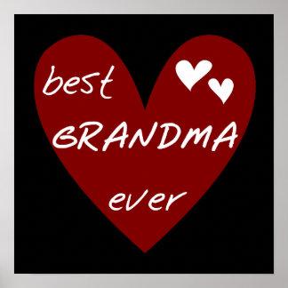Los mejores regalos de las camisetas de la abuela  posters