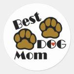 Los mejores regalos del amante del perro de la etiquetas redondas
