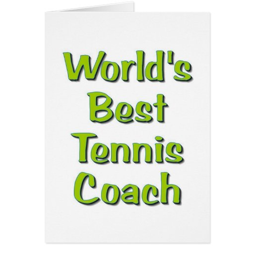 Los mejores regalos del coche del tenis del mundo tarjeta de felicitación