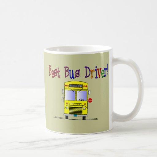 Los mejores regalos del conductor del autobús taza básica blanca