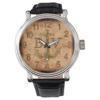 Los mejores regalos del despliegue del ancla con reloj de mano