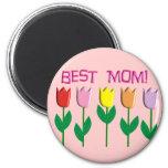 Los mejores regalos del diseño de los tulipanes de iman de nevera