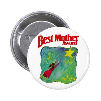 Los mejores regalos del premio de la madre pin redondo 5 cm