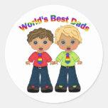 Los mejores regalos y camisetas del orgullo gay de pegatina redonda