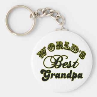Los mejores regalos y ropa del abuelo del mundo llavero redondo tipo pin
