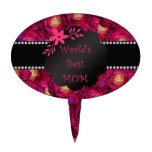Los mejores rosas del rosa de la mamá del mundo decoración para tarta