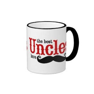 Los mejores tíos tienen bigotes taza de dos colores