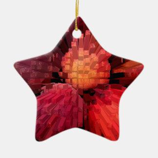 Los melocotones sacan adorno navideño de cerámica en forma de estrella