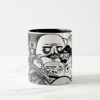 Los Memes Two-Tone Coffee Mug