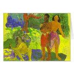 """""""Los mensajeros de la tarjeta de Oro"""" - Paul Gaugu"""