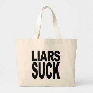 Los mentirosos chupan bolsa tela grande