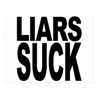 Los mentirosos chupan postal